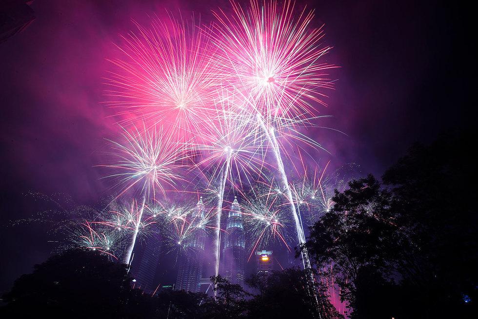 חגיגות השנה החדשה 2020 קואלה לומפור מלזיה (צילום: EPA)