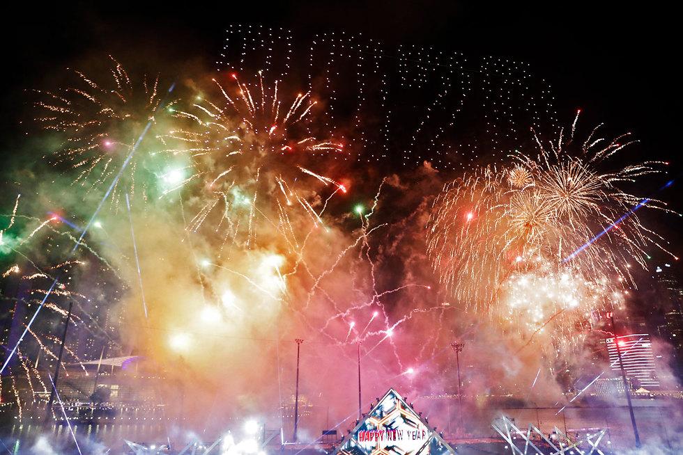 חגיגות השנה החדשה 2020 סינגפור (צילום: EPA)