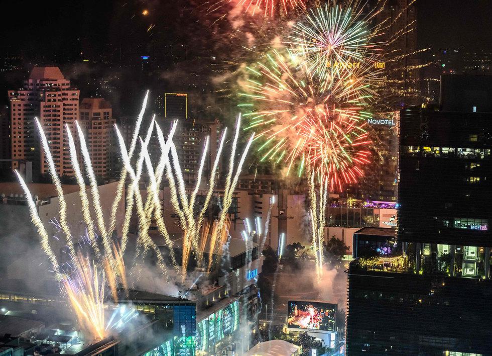 חגיגות השנה החדשה 2020 בנגקוק תאילנד (צילום:  AFP)