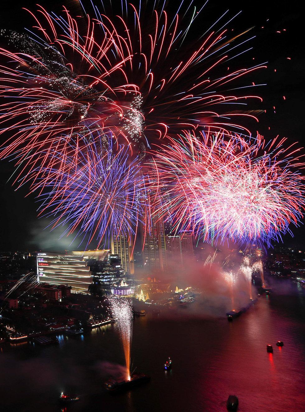 חגיגות השנה החדשה 2020 בנגקוק תאילנד (צילום:  רויטרס)