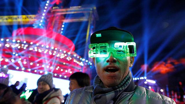 חגיגות השנה החדשה 2020 בייג'ינג סין (צילום: רויטרס)
