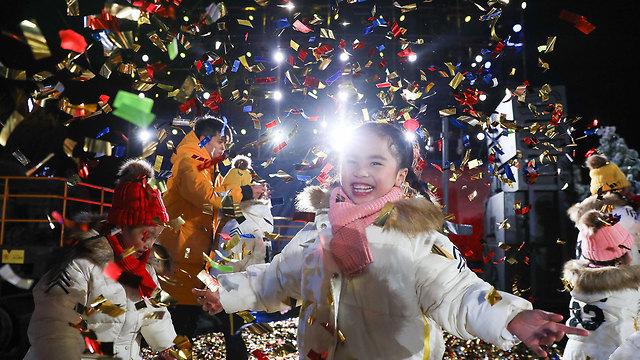 חגיגות השנה החדשה 2020 בייג'ינג סין (צילום: gettyimages)
