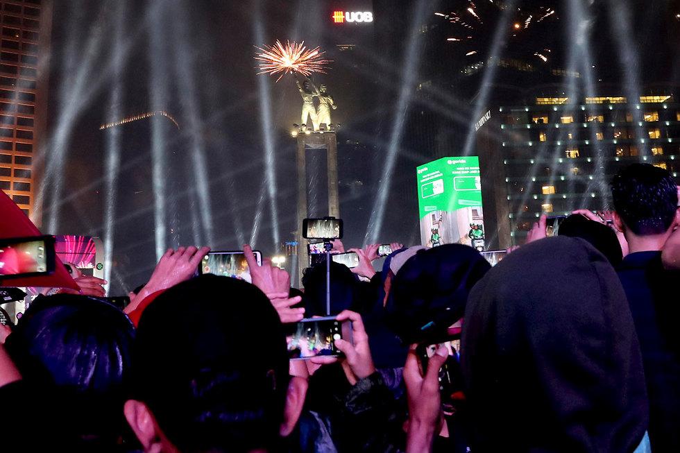 חגיגות השנה החדשה 2020 ג'קרטה אינדונזיה (צילום: AP)