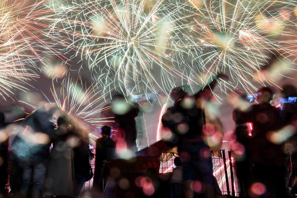 חגיגות השנה החדשה 2020 ג'קרטה אינדונזיה (צילום: רויטרס)
