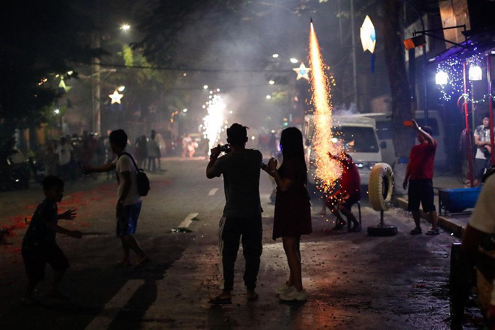 חגיגות השנה החדשה 2020 הפיליפינים מנילה (צילום: EPA)