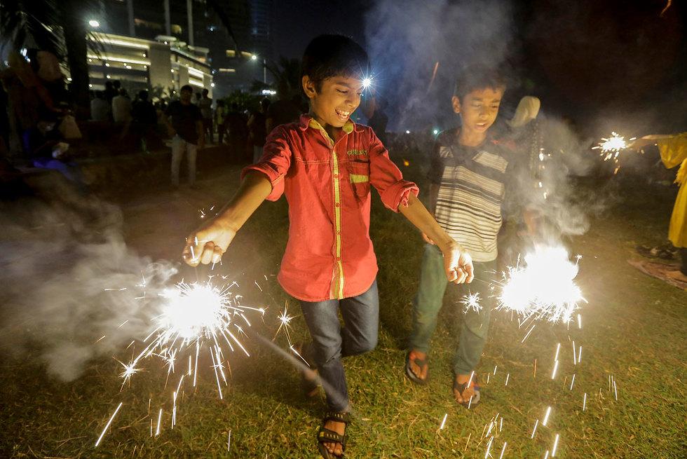 סרי לנקה חגיגות השנה החדשה 2020 (צילום: EPA)