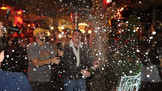 חגיגות הסילבסטר בדיזנגוף, תל אביב (צילום: מוטי קמחי)