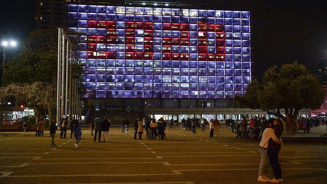 חגיגות הסילבסטר בבניין עיריית תל אביב (צילום: קובי ריכטר, TPS)