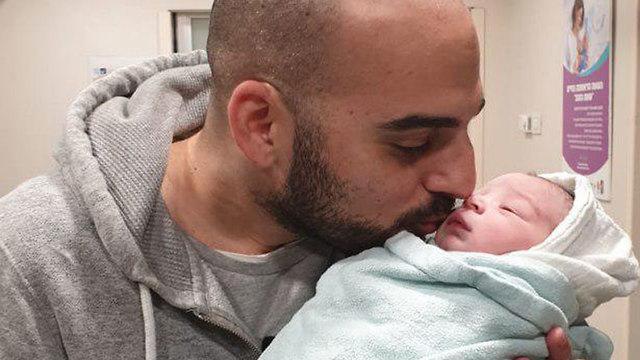 התינוק הראשון באסף הרופא נולד ב 00:06 (צילום: דוברות שמיר אסף הרופא)
