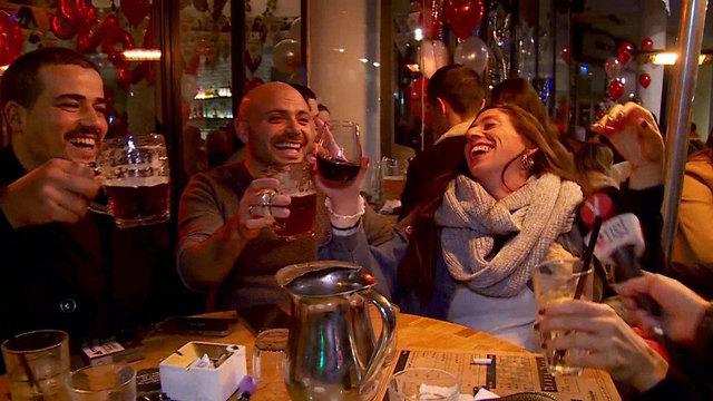 חגיגות הסילבסטר בדיזנגוף, תל אביב (צילום: חגי דקל)