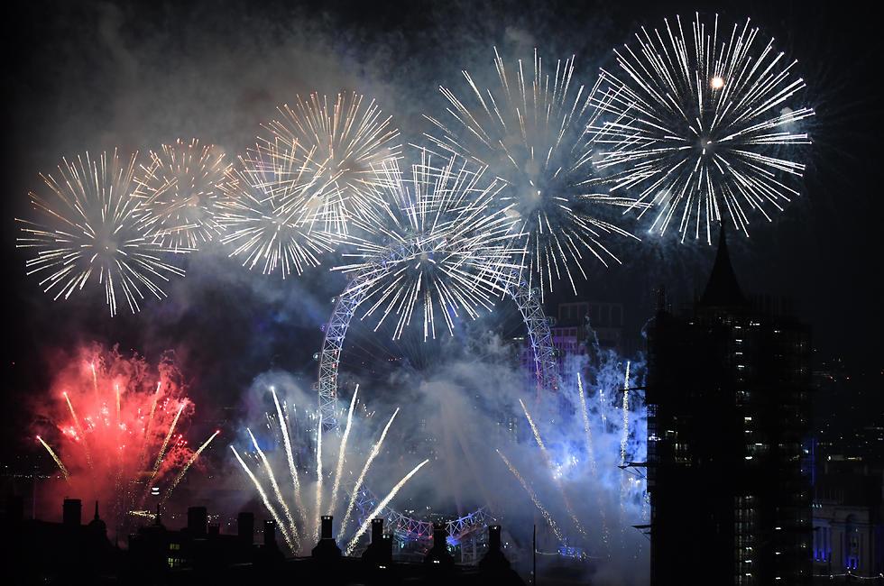 חגיגות השנה החדשה שנה אזרחית חדשה 2020 לונדון  זיקוקים (צילום: Getty Images)