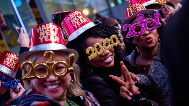 חגיגות השנה החדשה שנה אזרחית חדשה 2020 ניו יורק (צילום: EPA)