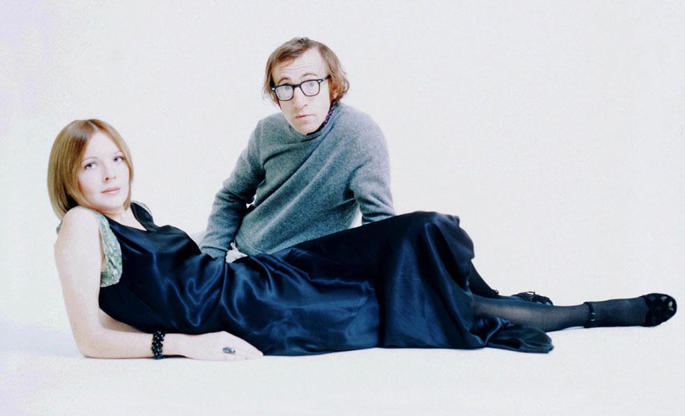 בתחילת שנות ה-70: דיאן קיטון עם וודי אלן (צילום: rex/asap creative)
