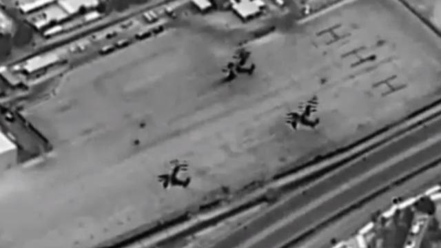 כוחות מיוחדים אמריקנים נחתים נוחתים בשגרירות ב עיראק בגדד ()
