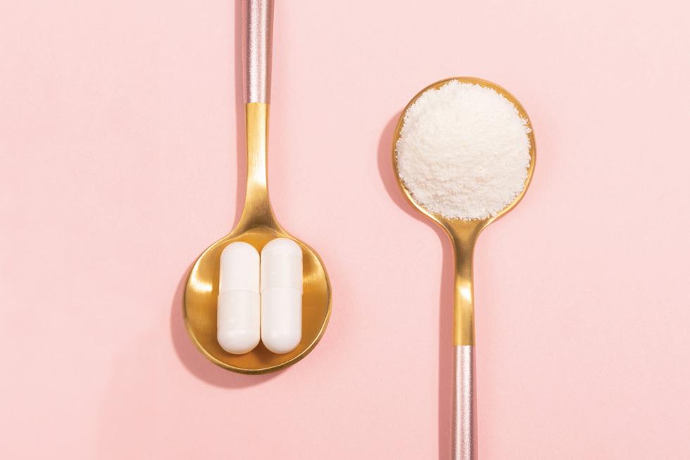 רופאי עור רבים טוענים שאין הבדל בין צריכת כמוסות קולגן ובין אכילת כל חלבון אחר (צילום: Shutterstock)