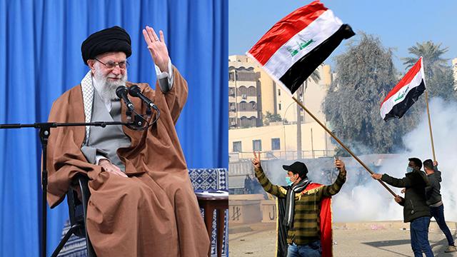 עיראק בגדד מהומות מחוץ ל שגרירות ארה