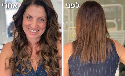 שיער ארוך זה פאן. מלי זיידמן לפני ואחרי התוספות