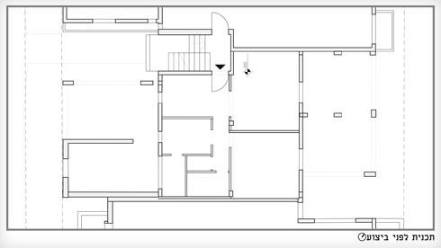 תוכנית הדירה לפני השיפוץ (תוכנית: באדיבות אדר' נטלי טל)