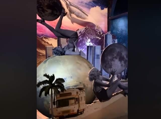 Одна из инсталляций на выставке. Фото: фейсбук