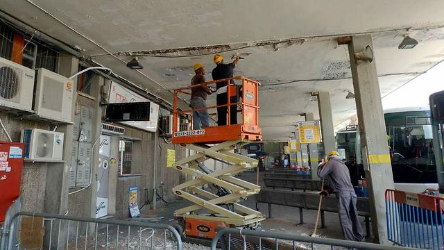 בניית התחנה המרכזית החדשה אשקלון  (צילום: אבי תשובה)