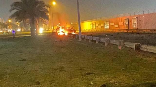 המקום שבו נפלו רקטות הקטיושה בבגדד ()
