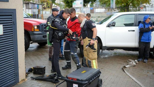 הצפות בתל אביב (צילום: יחידת התיעוד המבצעי כב