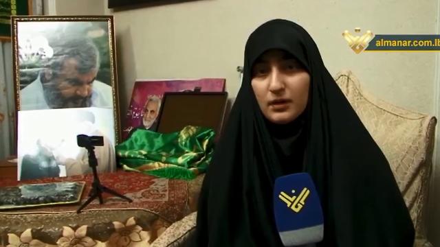 "Зейнаб Сулеймани в эфире телеканала ""Аль-Манар"""