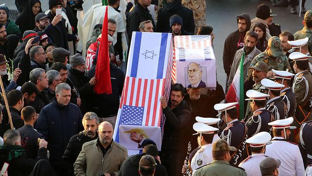 На похоронах Сулеймани. Фото: AFP
