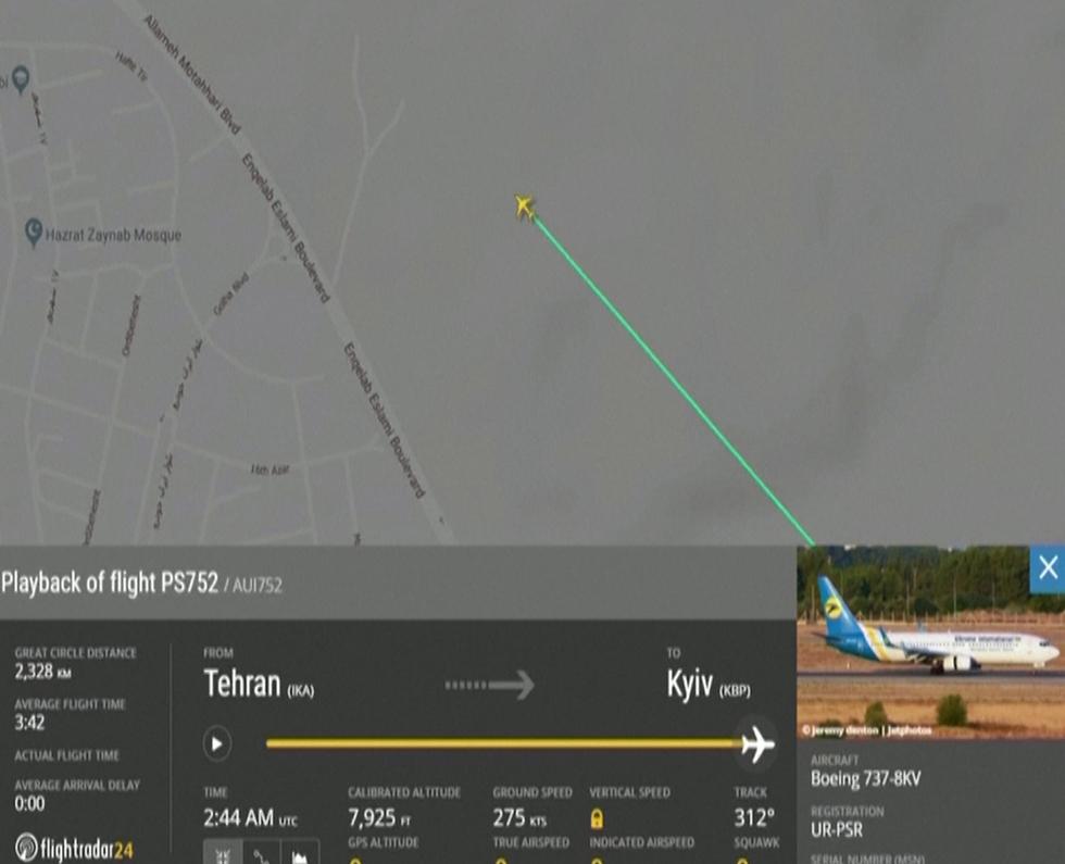 Информация сайта Flightradar24