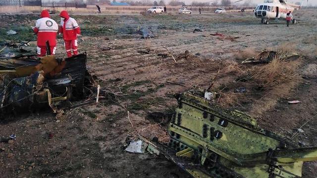 זירת התרסקות המטוס האוקראיני ()