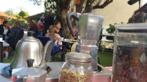 קפה בנימינה  (צילום: צביקה בורג)