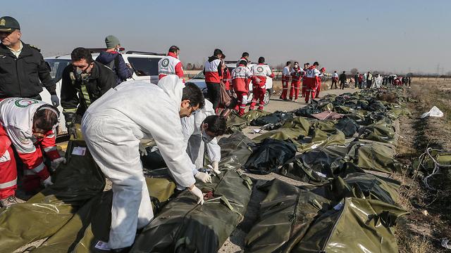 Место крушения самолета в Иране. Фото: MCT