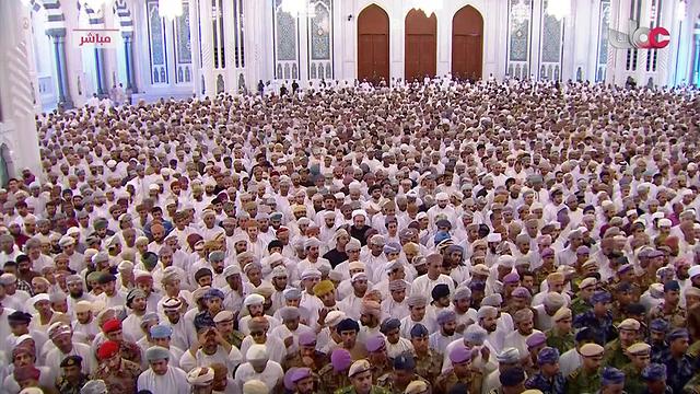 מסע הלוויה סולטן קאבוס בן סעיד (צילום: AP)