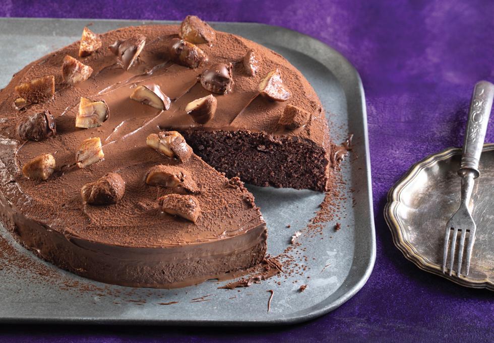 עוגת שוקולד ערמונים  (צילום: דניאל לילה, סגנון: נעמה רן)