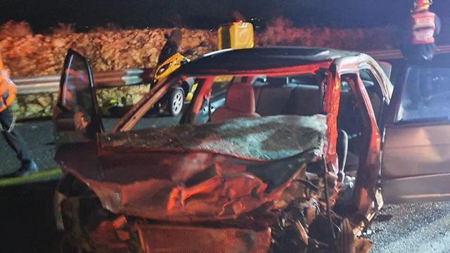 תאונת דרכים בכביש 89 (צילום: תיעוד מבצעי מד