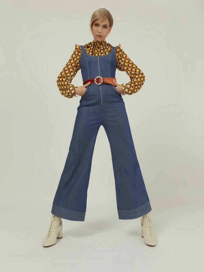 אוברול, אלכסיס בפקטורי 54   חולצה, זארה   חגורה, style4rent (צילום: לירון ויסמן)