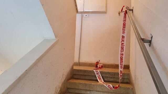 זירת הרצח בכרמיאל (צילום: אחיה ראב