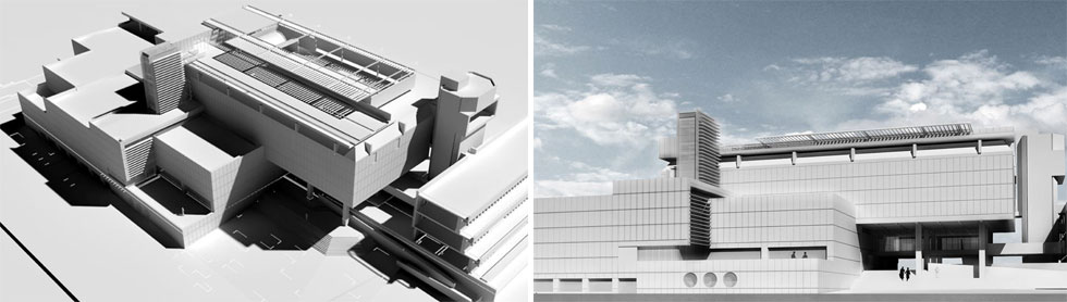 מצגת החידוש של האדריכל דניאל מינץ. ''הסיפור של זכויות יוצרים הוא מעורפל. זה לא קיים, אלא אם המבנה במקור קיבל הכרה כיצירת אמנות גדולה'', מנמק מינץ, חתן פרס רכטר לאדריכלות