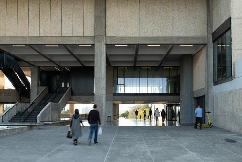 המבואה נפתחה כדי לאפשר מעבר בקמפוס, שלא היה אפשרי עד היום (צילום: גדעון לוין)