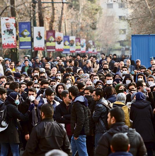 """סטודנטים מפגינים בטהרן. """"לא יכולים לזרוק את כולנו לכלא"""""""
