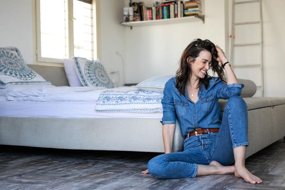 יעל גולדמן (41), דוגמנית, שחקנית, מנחת טלוויזיה, פרזנטורית של Olea essence – מוצרי טיפוח מפרי הזית ושל רשת האופנה גולף. אמא של עמנואל (8), בילי (6) ואיתן (שנה ו-10 חודשים) (צילום: טל שחר)