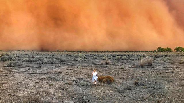 אוסטרליה סופות אבק אחרי שריפות ו שיטפונות (צילום: AFP)