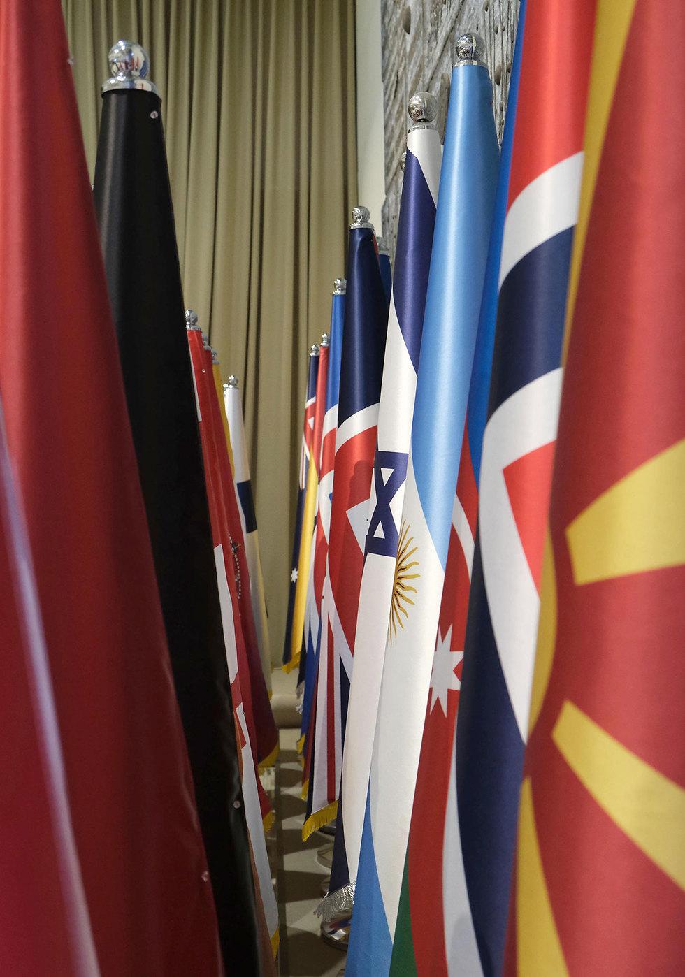חזרה גנרלית בבית הנשיא לקראת הגעת 40 ראשי מדינות  (צילום: מארק ניימן לע