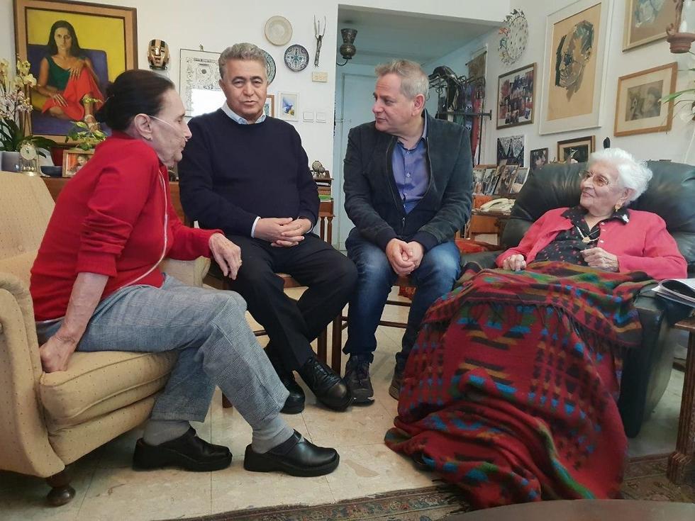 רות דיין יעל דיין עמיר פרץ ו ניצן הורוביץ  (צילום: רענן כהן)