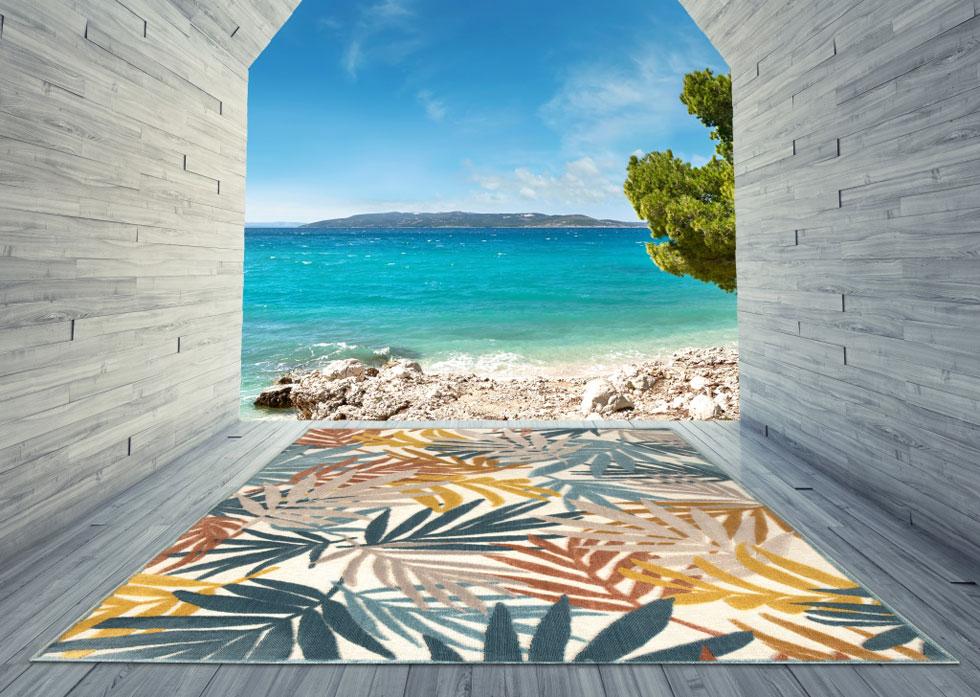 שטיח מקולקציית לוטוס. בהשראת הטבע. מתוך הקולקציות החדשות של כרמל פלור דיזיין לשנת 2020  (צילום: כרמל פלור דיזיין)
