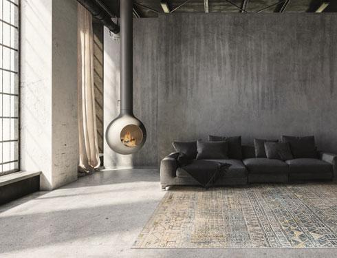 שטיח מקולקציית סאטאי. מראה משי עדין ורך בהשראת שטיחי משי עתיקים  (צילום: כרמל פלור דיזיין)