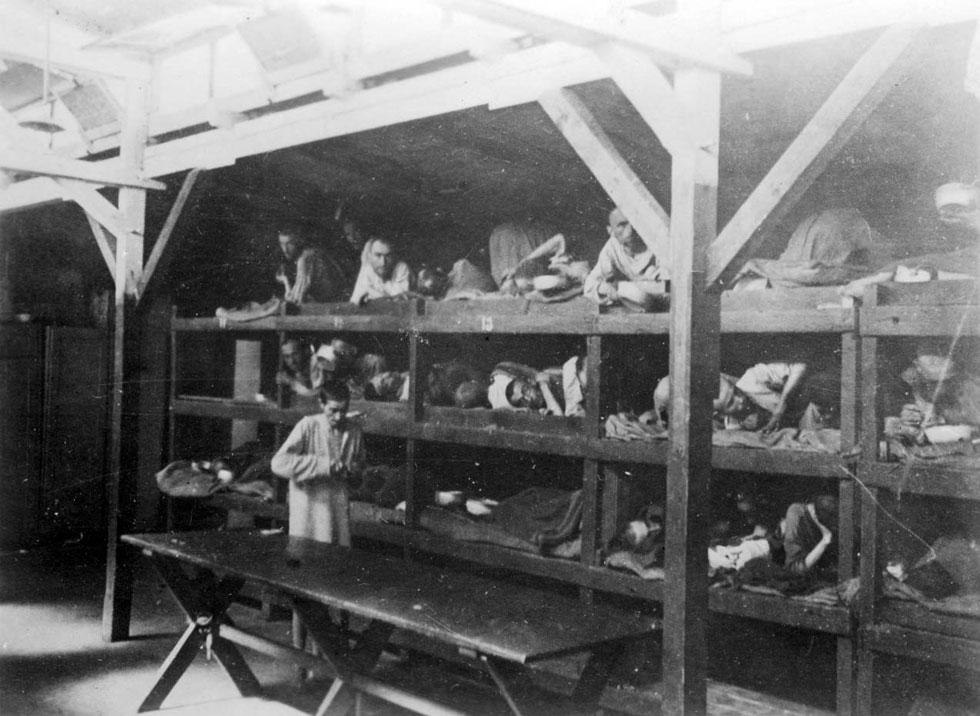 """אסירים באושוויץ. """"מי יכול למצוא מילים שיבטאו את היגון על כל האנשים שהושפלו, עונו ונרצחו כאן?"""" (צילום: reuters)"""