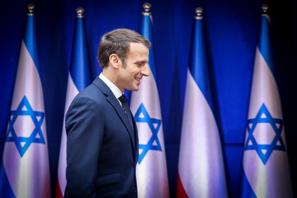 נשיא צרפת עמנואל מקרון (צילום: מארק ישראל סלם)