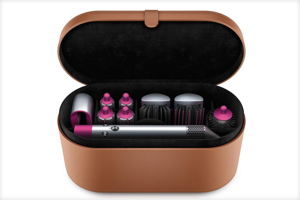 פתרון קולע למחליקות או למכורות למייבש שיער. ערכת האביזרים לשיער Airwrap של דייסון