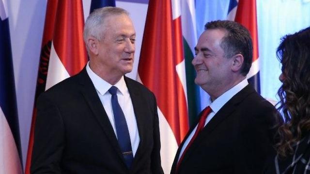 ארוחת ערב בבית הנשיא נשיא המדינה מנהיגי העולם בני גנץ ו ישראל כץ (צילום: עמית שאבי)